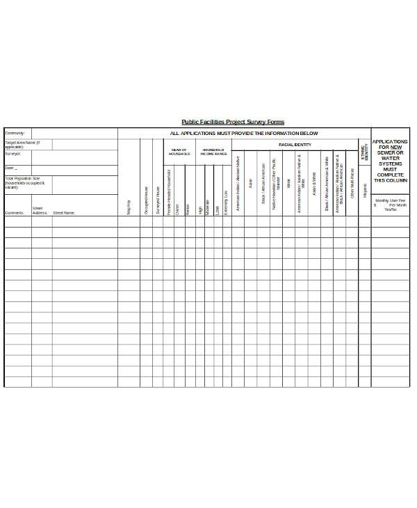 project survey form