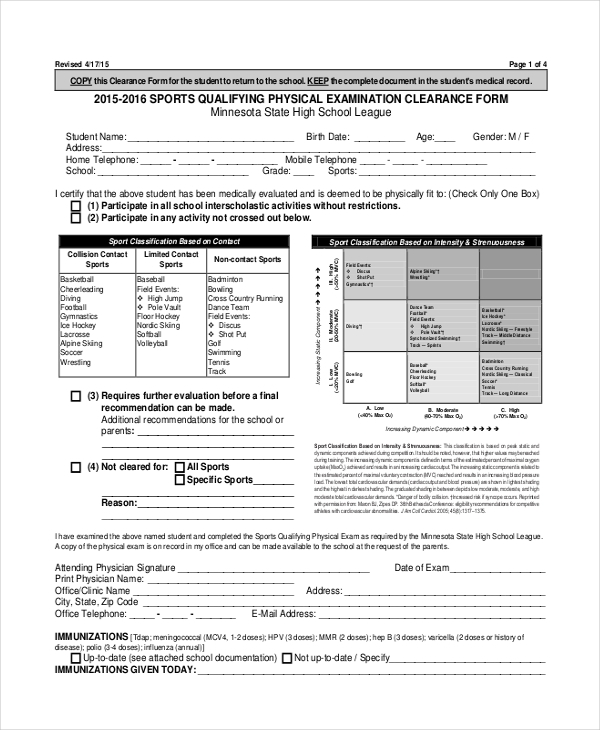 Sample Physical Assessment Forms - 8+ Free Documents In Pdf, Word