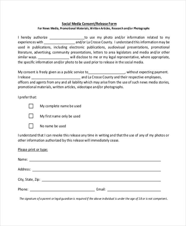 parental release form for photos