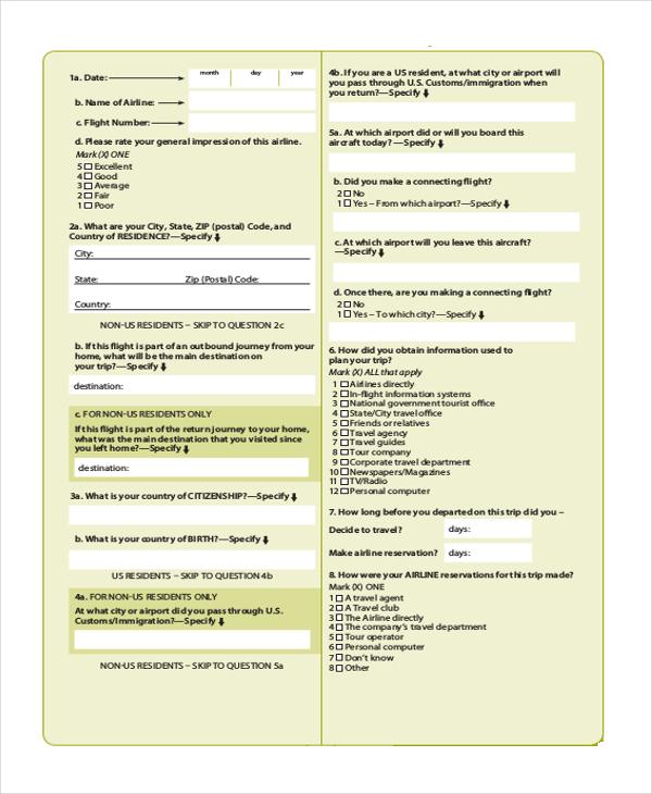sample questionnaire for business survey