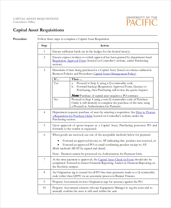 Sample Purchase Requisition Forms   Free Documents In Pdf Word