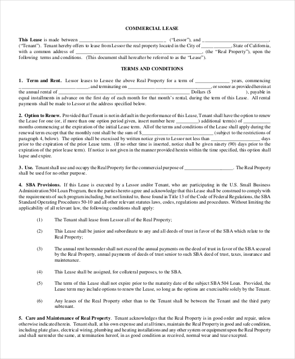 Commercial lease renewal letter sample lease renewal for Tenancy agreement renewal template