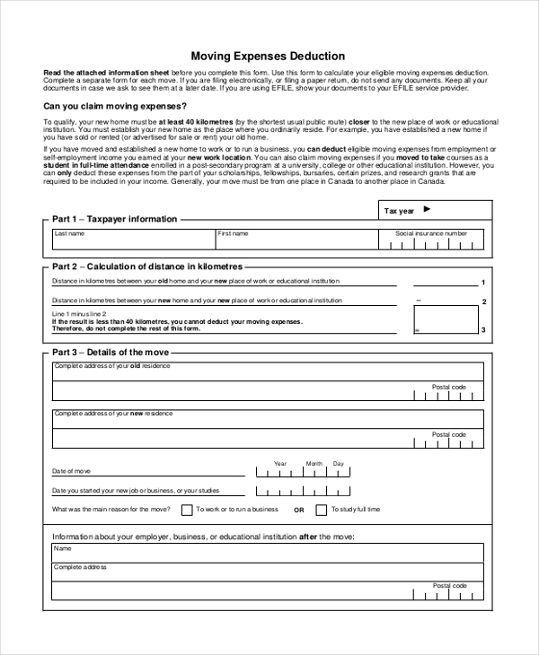 cra business expense form