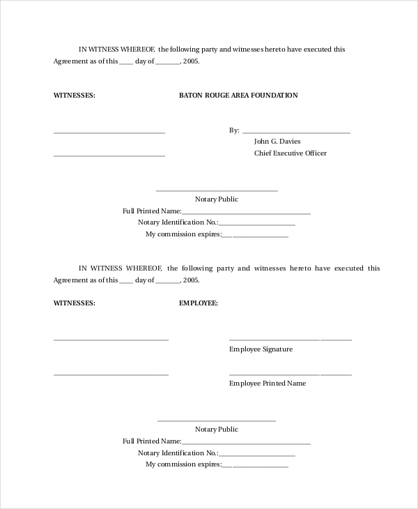 Sample Employment Contract Forms   Free Documents In Pdf Doc