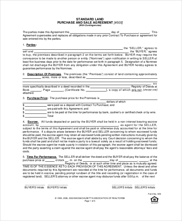Sample Purchase Agreement Forms   Free Documents In Pdf Word