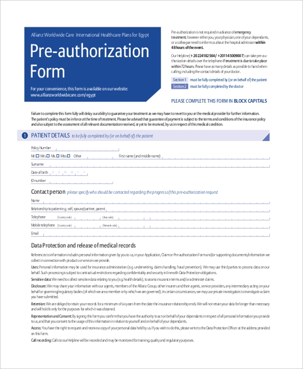 nextcare pre authorization form