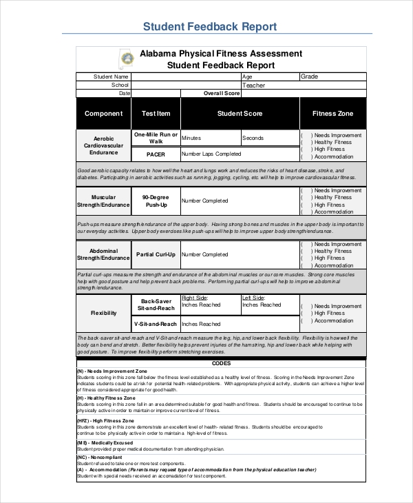 Sample Physical Assessment Forms 8 Free Documents in PDF Word – Fitness Assessment Form