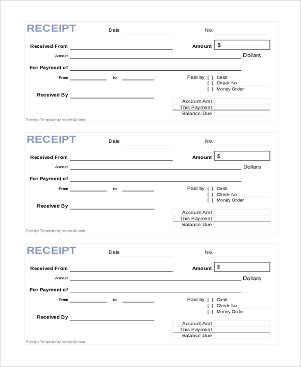 Sample Printable Receipt Form - 10+ Free Documents In Pdf