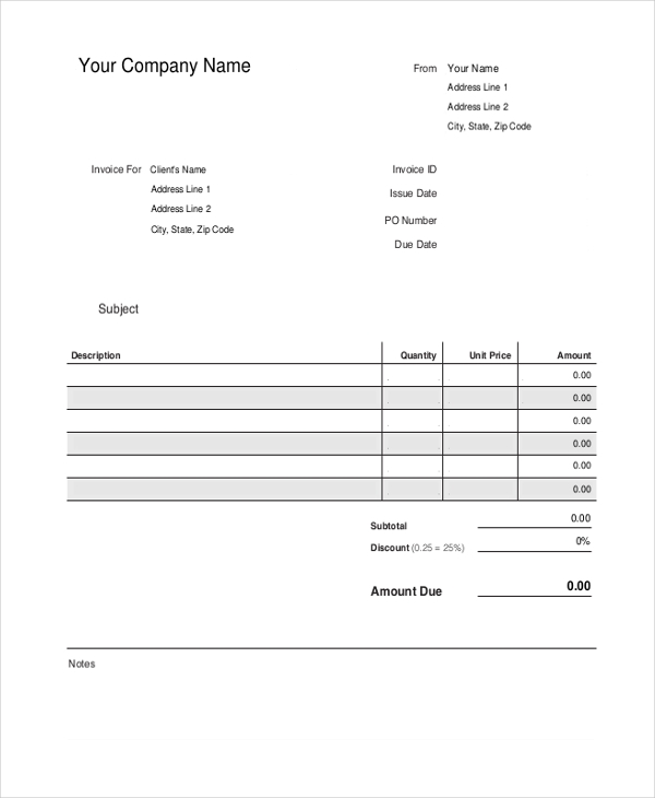 Sample Printable Receipt Form   Free Documents In Pdf