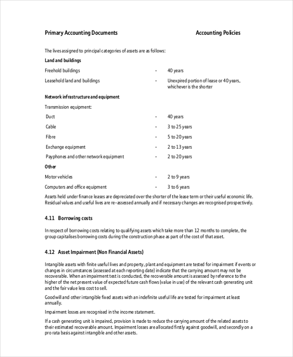 accounting documents form