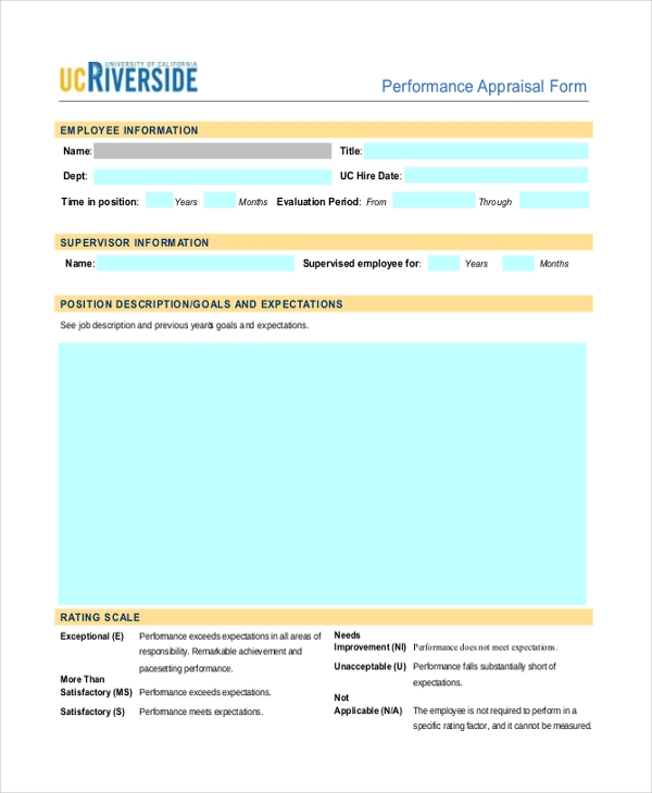 appraisal feedback form