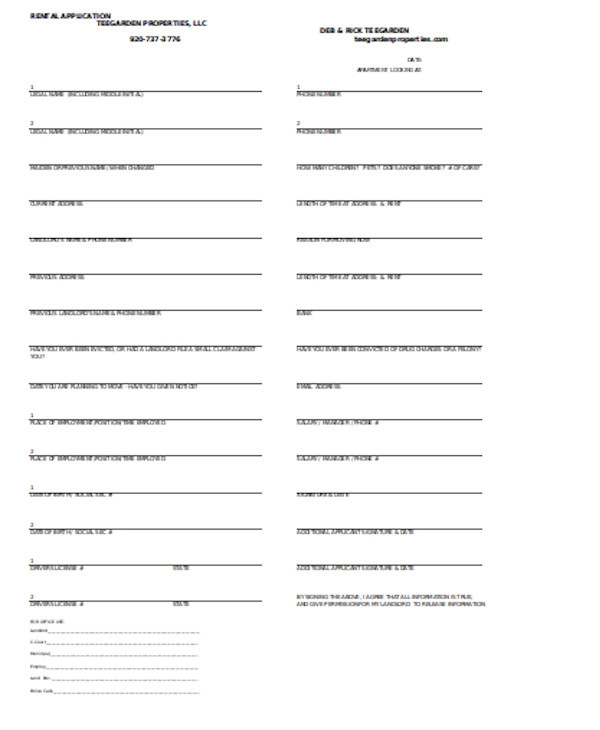 basic rental application form1
