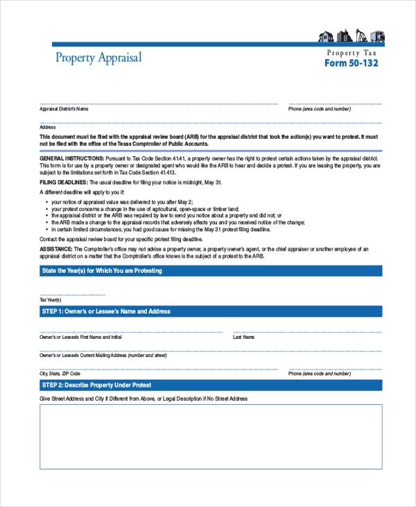 commercial land appraisal form