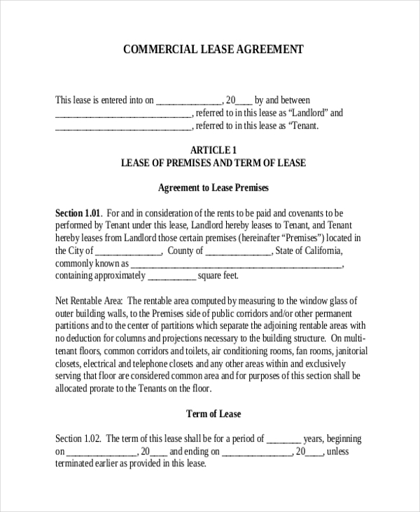 commercial residential lease agreement form. Resume Example. Resume CV Cover Letter