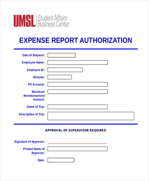 expense report authorization