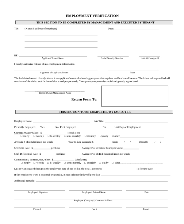 employment verification form1