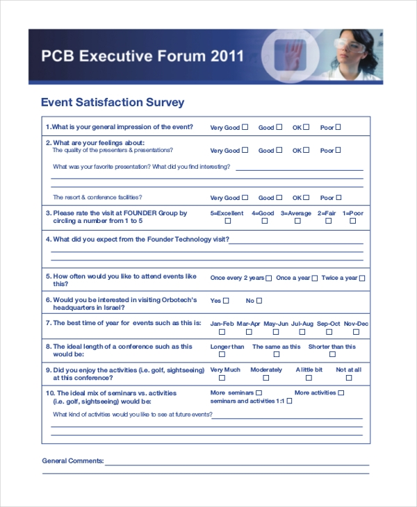 sample event survey form 8 free documents in pdf