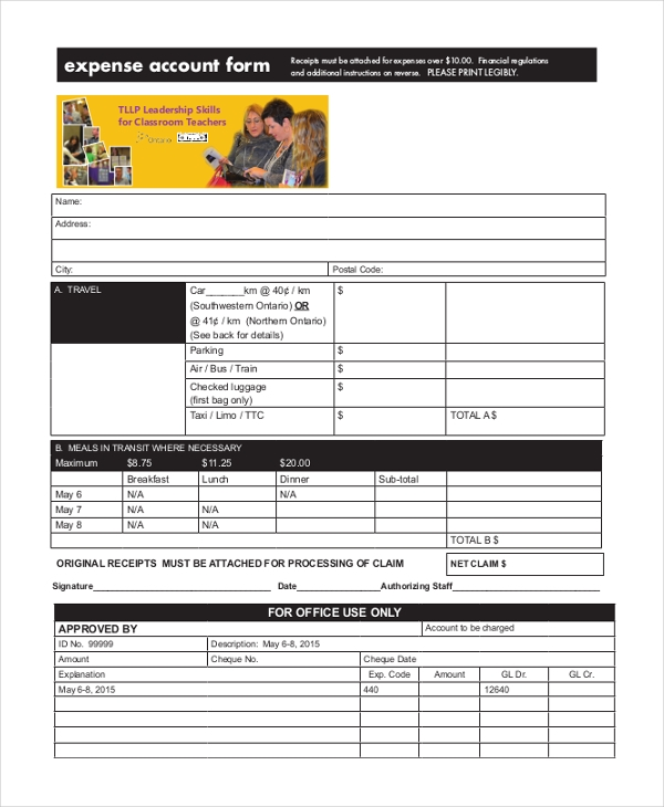 sample expense form 21 free documents in excel pdf