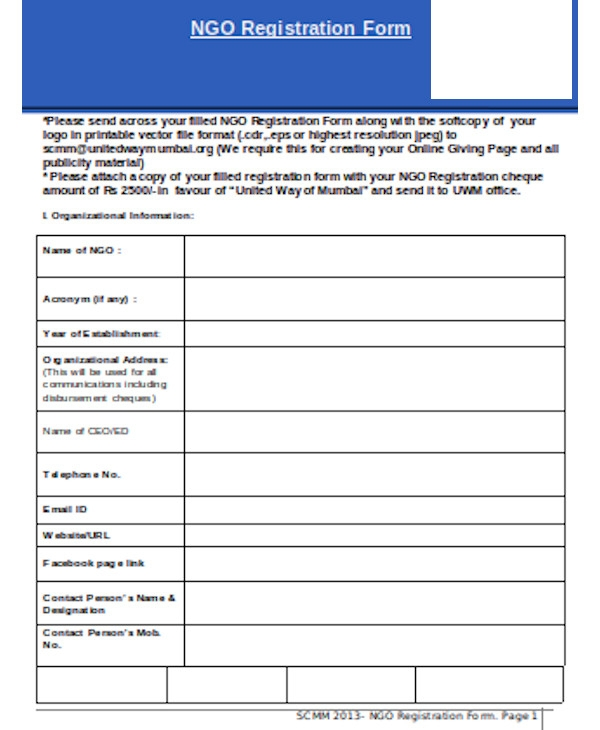 formal ngo registration form
