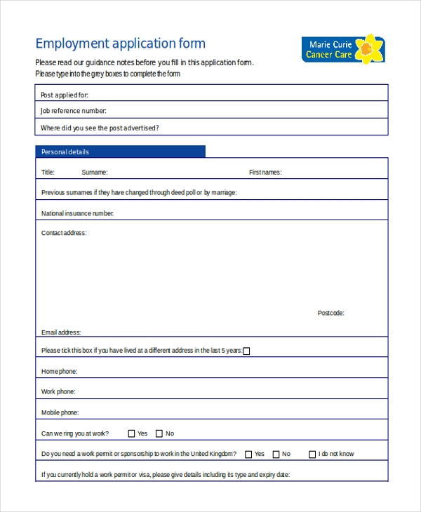 general application form for employment1