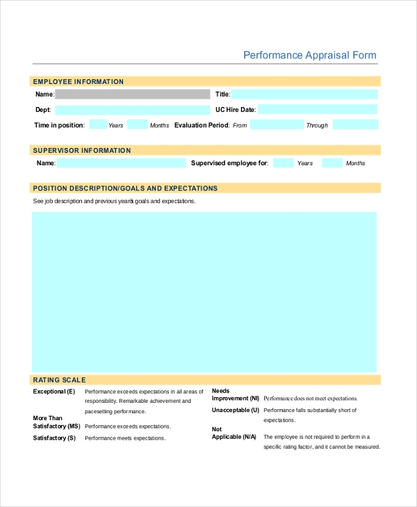 Sample Hr Form   Free Documents In Pdf Word