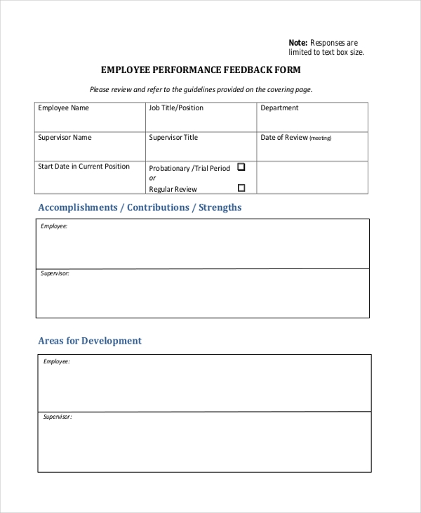 hr feedback form