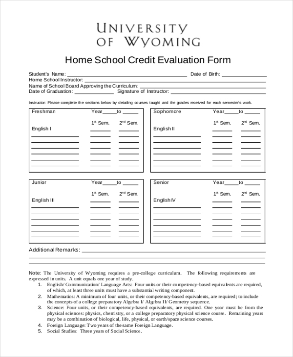 Sample School Evaluation Form   Free Documents In Word Pdf