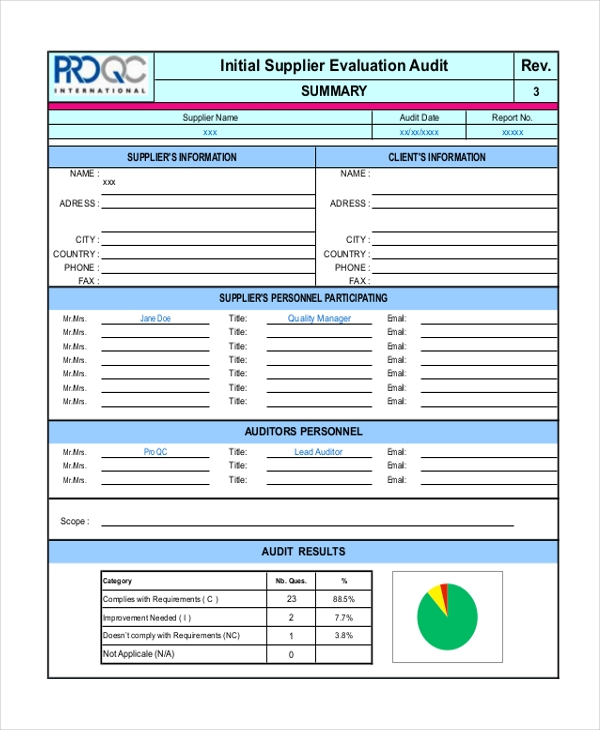 11+ Supplier Scorecard Templates – Free Sample, Example