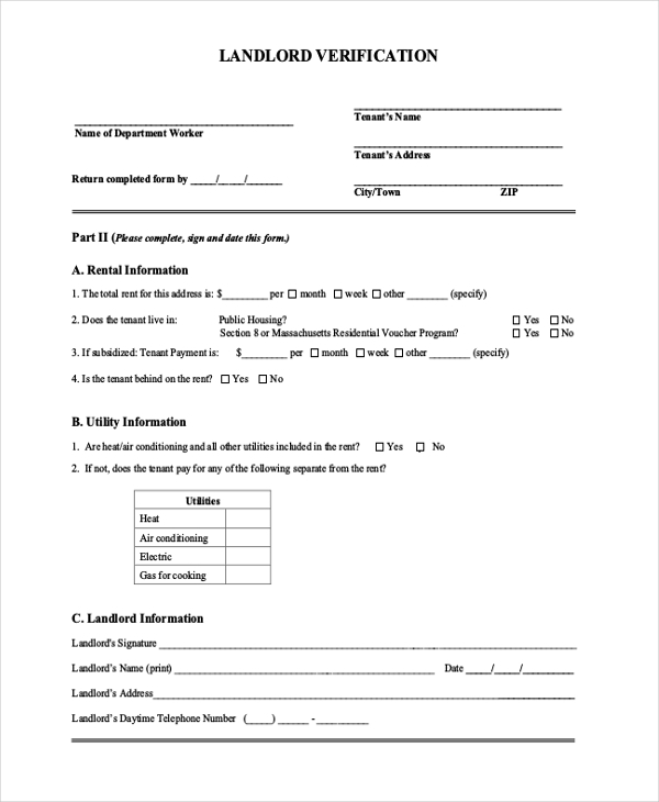 Sample Verification Forms - 21+ Free Documents In Pdf