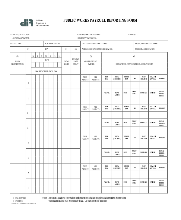 payroll report form1