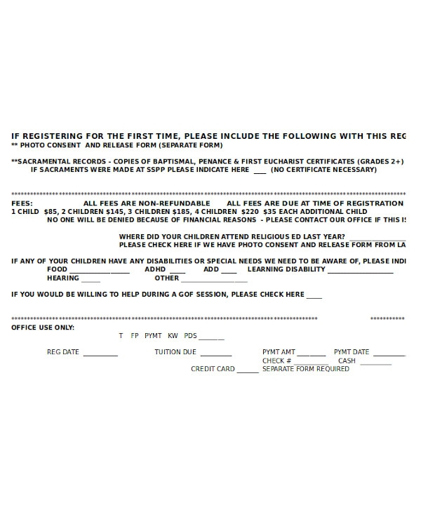 photo consent and release form