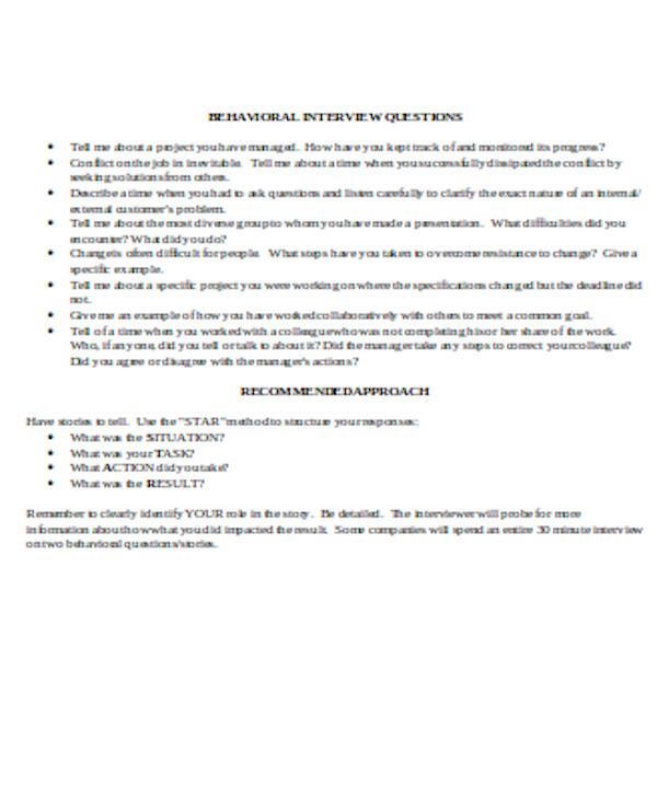 professional interview questionnaire form