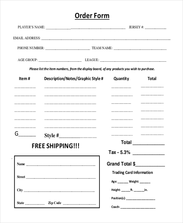 free 12  sample photography order forms in pdf