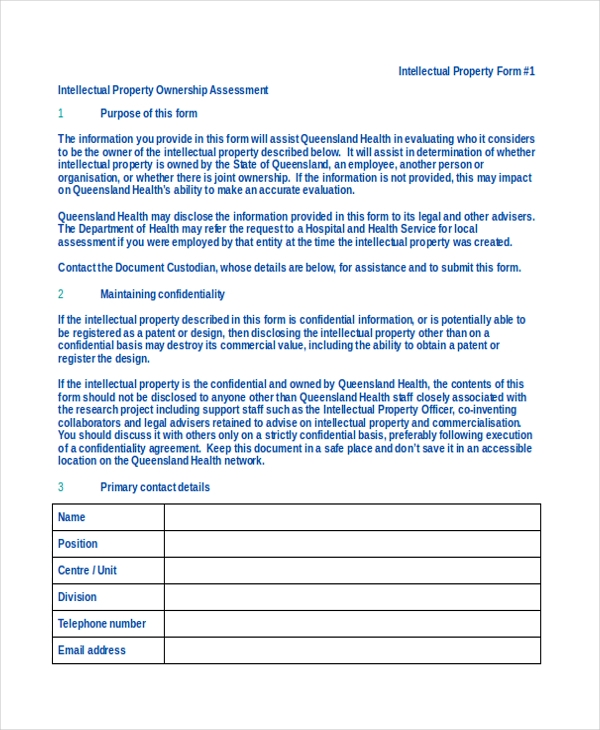 property ownership assessment form