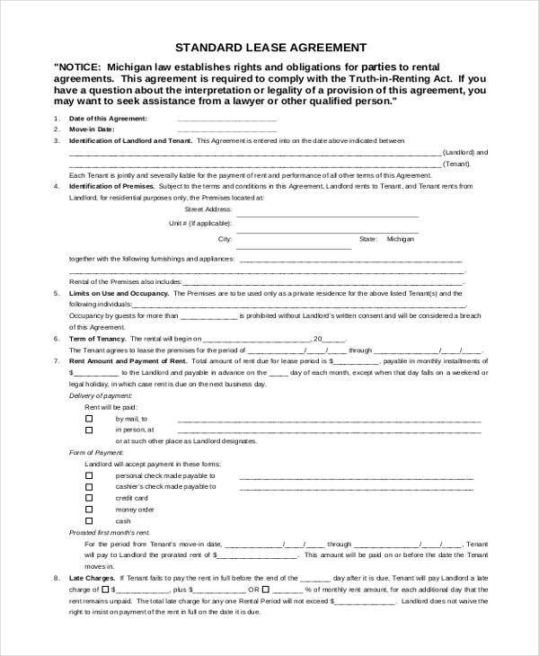 Sample Rental Lease Form 10 Free Documents in Word PDF – Rental Assistance Form