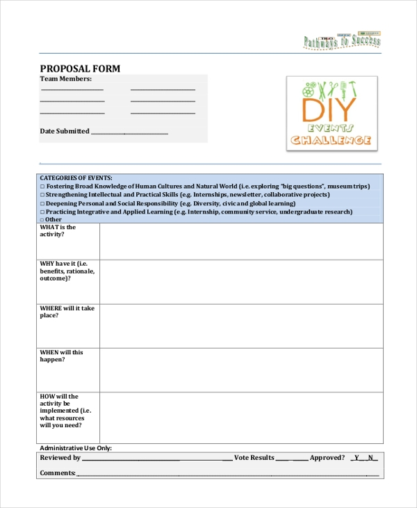 sample proposal form
