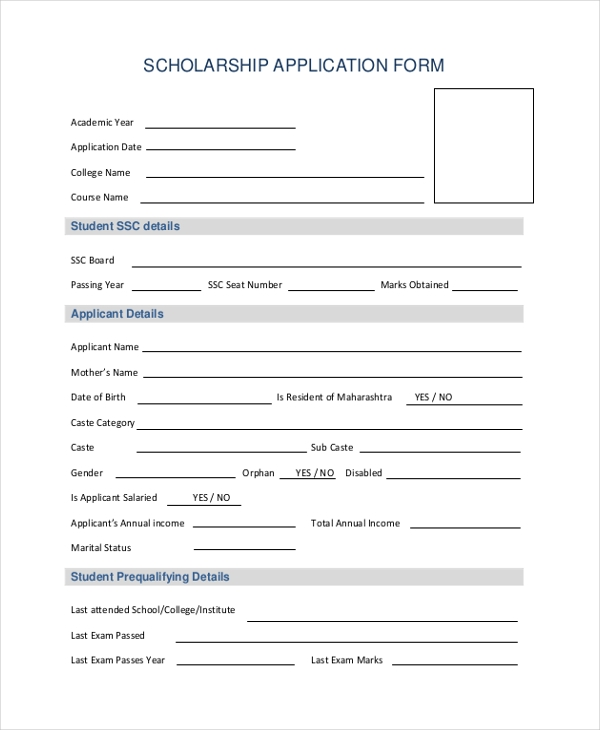 Sample Application Forms   Free Documents In Word Pdf