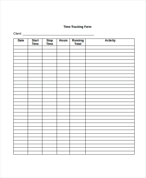 time tracking form 8 free documents in pdf doc