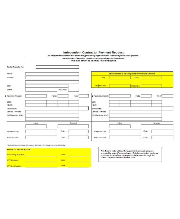 basic independent contractor form