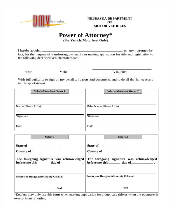 basic power of attorney form