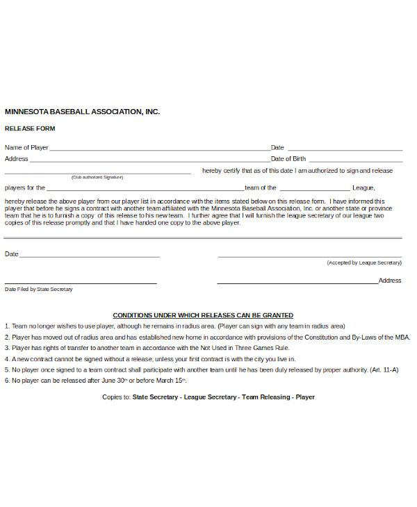 basic release form
