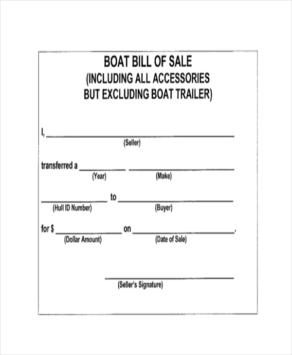 Sample Bill Of Sale Form - 11+ Free Documents In Word, Pdf
