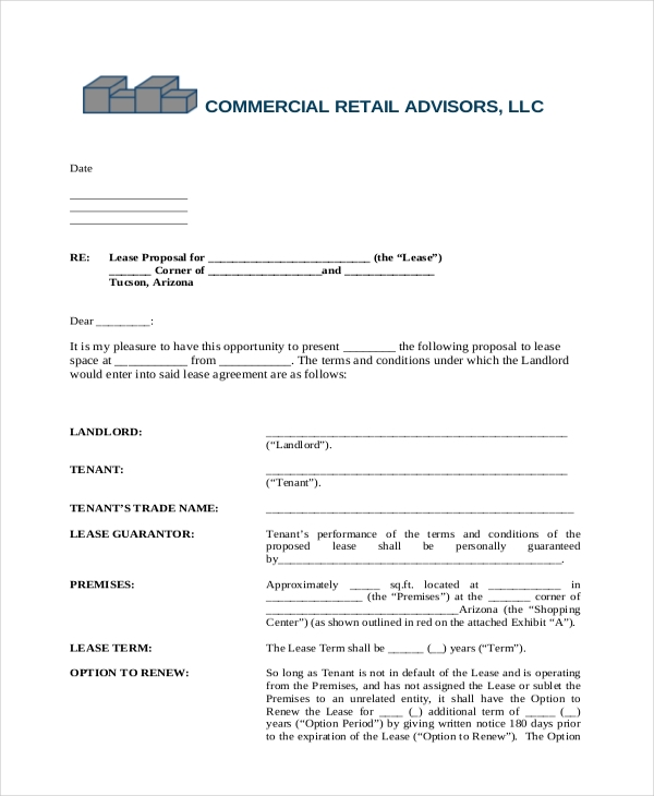 Free 6 Sample Triple Net Lease Form Pdf