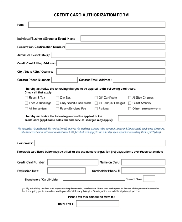 Sample Authorization Forms   Free Documents In Word Pdf