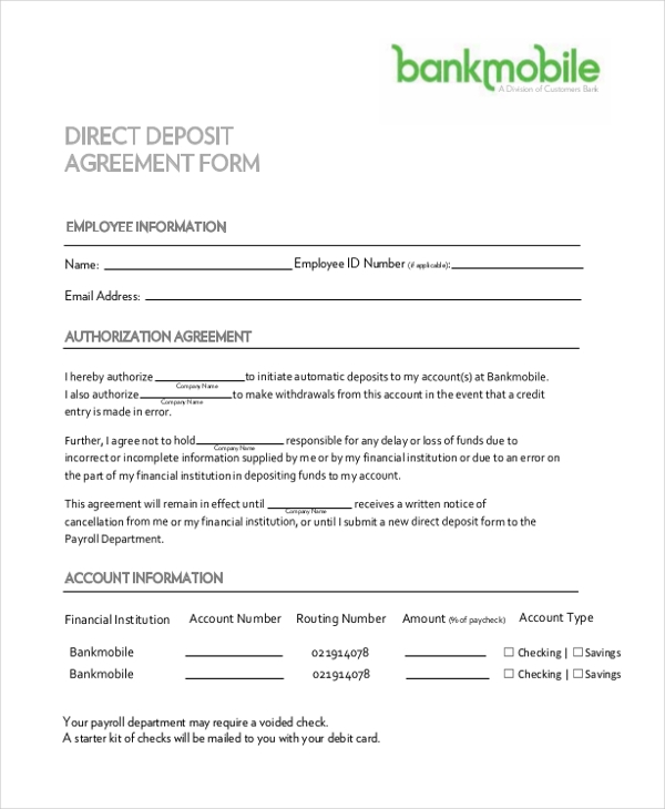 Download Td Direct Deposit Form For Business  Docsharetipsdirect