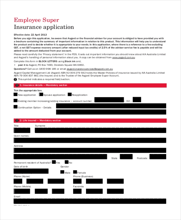 employment insurance application