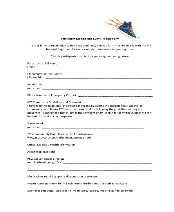 event release form
