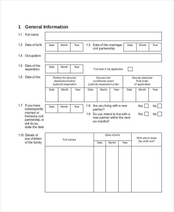 Sample Income Statement Forms   Free Documents In Pdf