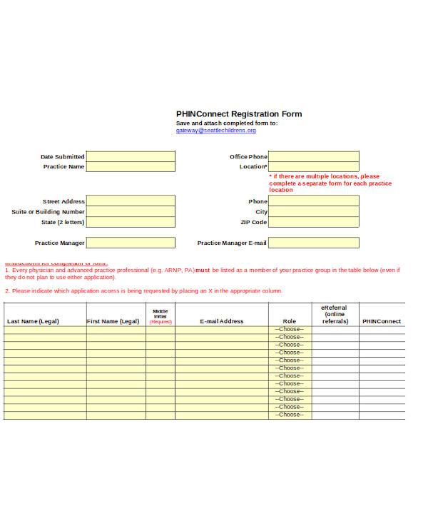 foundation registration form