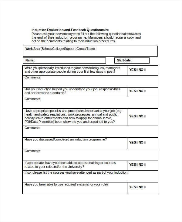 Sample Hr Feedback Form   Free Documents In Pdf Doc